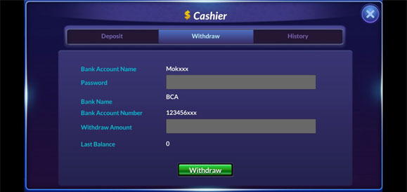 Withdraw Ceme Online
